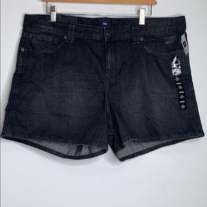 NWTs GAP • Premium Denim Black Shorts